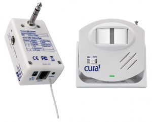 Cura1 Wireless PIR Sensor Beam Kit with Multiport Receiver - Facility Use